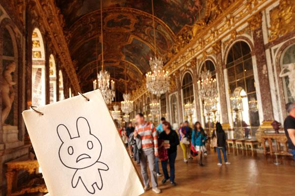ものうさ ヴェルサイユ宮殿 鏡の間