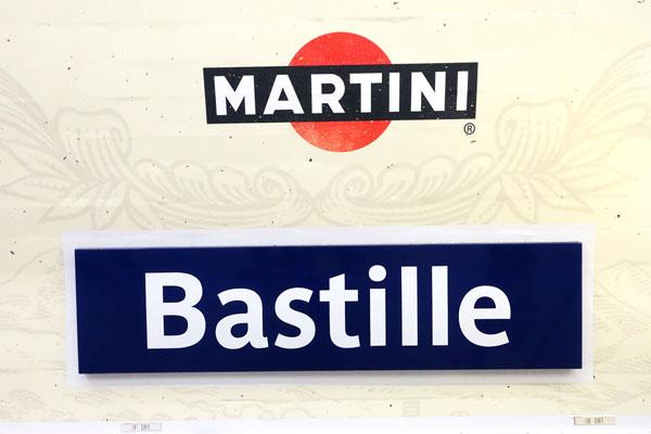 バスティーユ パリ メトロ ポスター