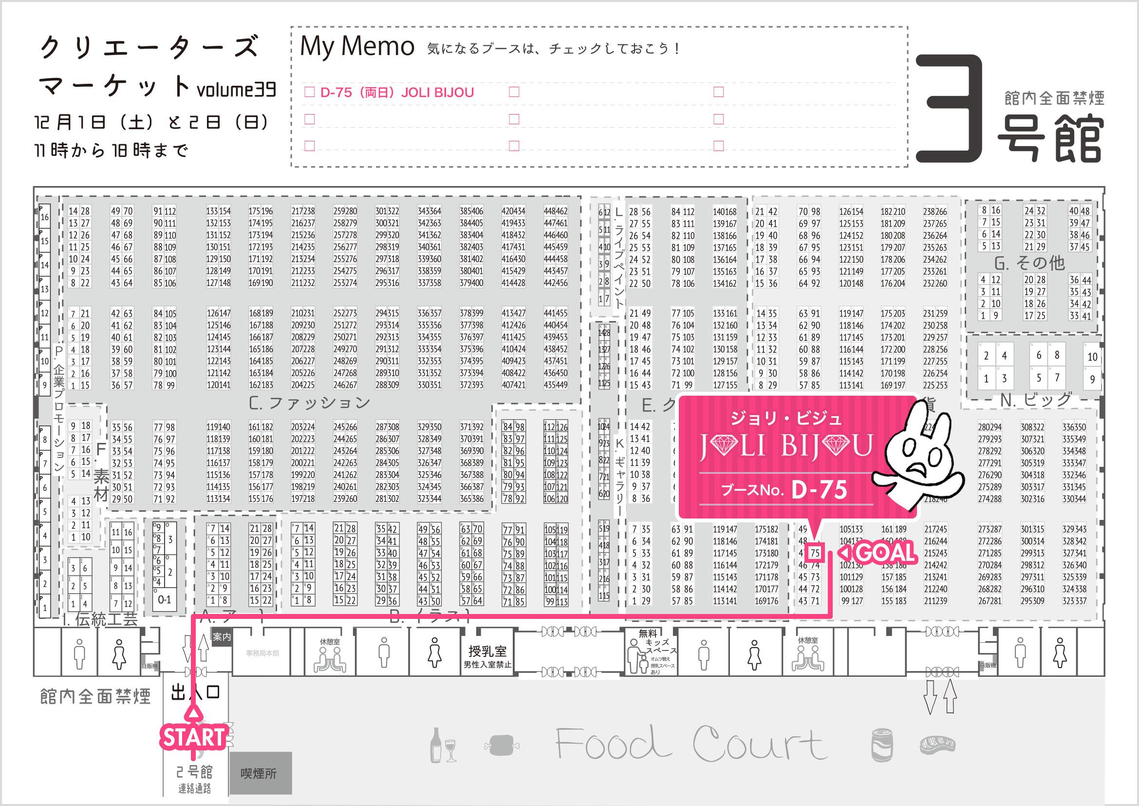 クリマ38 3号館マップ ジョリ・ビジュ